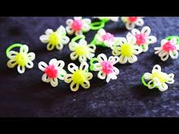 flower bands rainbow loom bands flower ring loom bands