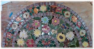 Round Flower Rugs Decorative Ceramic Tile Hand Made Tiles In Various Ceramic Leaf