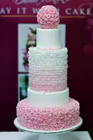 5 tier wedding cake pink frills 5 tier wedding cake inspiration for this cake flickr