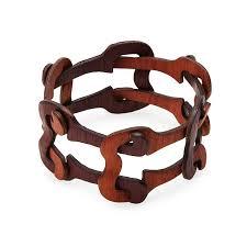 cuff link bracelet images Lenka wooden chain link bracelet wood jewelry cuff uncommongoods jpg