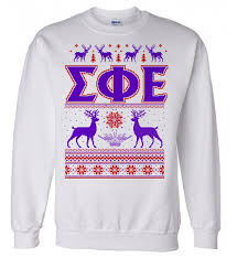 sigma phi epsilon ugly christmas sweater crewneck sweatshirt sale