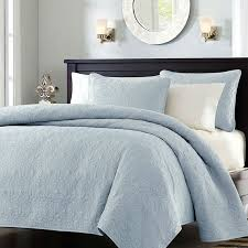 Solid Color Quilts And Coverlets Full Queen Size Quilted Bedspread Coverlet With 2 Shams In Light
