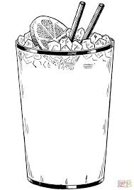 glass of ice cold drink coloring page free printable coloring pages