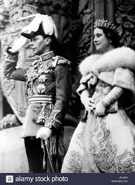 king george vi king george vi queen elizabeth at the parliament building