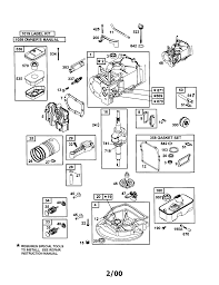 diagram briggs and stratton ohv engine parts diagram