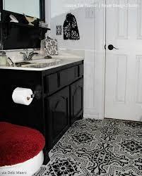 paint vinyl linoleum with floor stencils 8 diy decor ideas