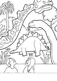 coloriages dinosaures dans un musée fr hellokids com