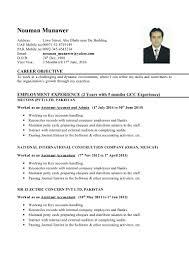 Career Objective In Cv For Accountant Junior Accountant Cv 1