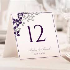 table tent template table number card template exquisite vines