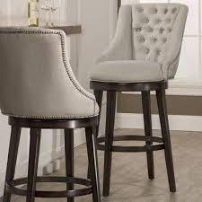 Counter Height Swivel Bar Stool Features 360 Degree Swivel Stool Armchair Design Nailhead