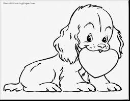 terrific dog coloring pages and cat simple page with cute puppy