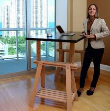 Lifehacker Standing Desk Ikea Hack An Ikea Trestle Into An Adjustable Standing Desk Lifehacker