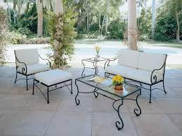 wrought iron patio ottoman wrought iron patio table and 4 chairs with furniture interesting