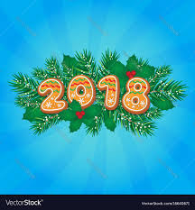 2018 new year greeting card design vector image