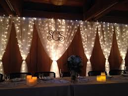 wedding backdrop monogram the backdrop came out really well frame of conduit ikea tulle