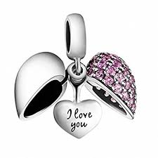 love heart charm bracelet images I love you heart charm bead crystal 925 sterling jpg