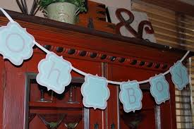 photo diy baby shower banner image