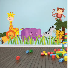 Nursery Wall Mural Decals Nursery Zoo Wall Decal Animal Wall Decal Murals Primedecals