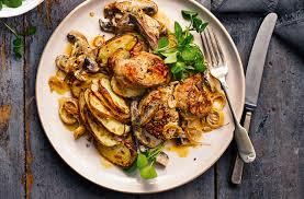 turkey mushroom gravy recipe details pork fillet with lemon potatoes pork recipes tesco real food