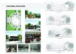 what is concept cultural pavilion architecture concept design student project
