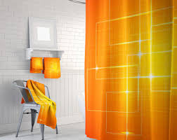 Orange Shower Curtains Orange Shower Curtain Yellow And Bathroom Decor Bath
