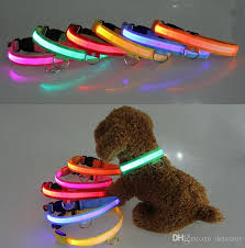 collar light for small dogs best quality led nylon pet dog collar night safety led light