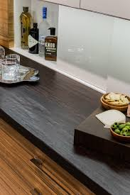 countertops black butcher block countertop chrome glass tray