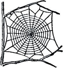 halloween spider web border with 6 bats die cut embellishment