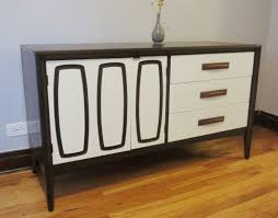 late mid century modern makeover two toned credenza projectophile