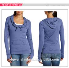 Hoodie With Thumb Holes Womens 2017 Sale Comfortable Solid Color Cotton Fleece Slim Women