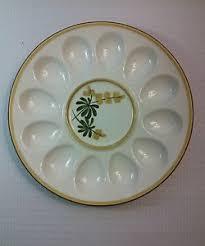 deviled egg platter stangl pottery golden blossom deviled egg platter vintage