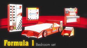formula 1 racecar theme bedroom furniture set for kids childrens formula 1 racecar theme bedroom furniture set for kids childrens car bed from little devils direct youtube