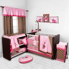 Nursery Bed Set by Bacati Lady Bugs Pink Chocolate Girls 10 Piece Nursery In A Bag