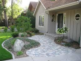 large 6 front yard entrance ideas on front entrance landscaping