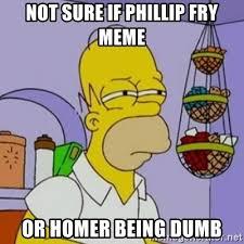 Fry Meme Generator - not sure if phillip fry meme or homer being dumb simpsons homer