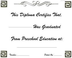 preschool graduation diploma preschool graduation diploma kindergarten graduation diplomas