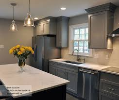 blue kitchen island gray cabinets blue kitchen island schrock
