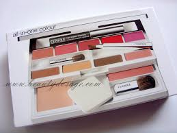 review and swatches clinique all in one colour palette beauty