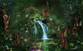 future village wallpapers fall fairy garden backgrounds castle city forest waterfall