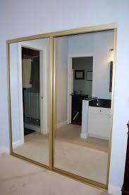 Mirrored Sliding Closet Doors Mirrored Closet Doors Diy Video And Photos Madlonsbigbear Com