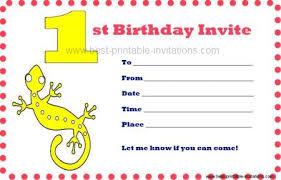 printable first birthday invitations
