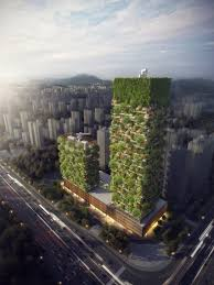 stefano boeri reveals plans for tree covered towers in nanjing