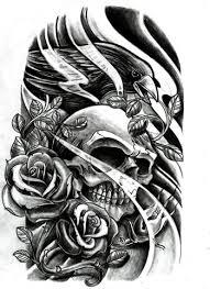 smoking skull n crown tattoo on back shoulder tattoo ideas
