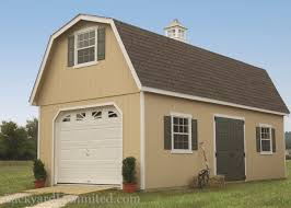 Gambrel Roofs by Garages U0026 Large Storage Single Car Garages Backyard Unlimited