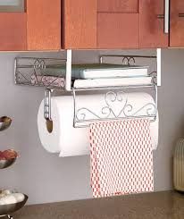 Kitchen Towel Racks For Cabinets Under Counter Storage Cabinets Paper Towel Holder Under Cabinet