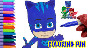 pj masks catboy coloring page fun coloring activity for kids