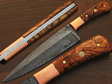 damascus steel kitchen knives damascus chef knife custom manufactured ebay