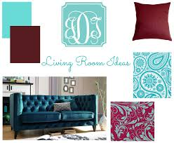 Red And Turquoise Living Room by Burgundy And Blue Living Room Home Decor Color Trends Fancy And