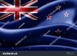 New Zealabd Flag New Zealand Flag Silk3d Illustration Stock Illustration 531314854