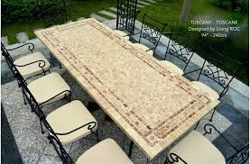 slate outdoor dining table mosaic table outdoor round top slate outdoor stone patio dining